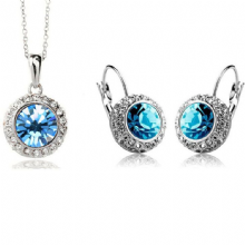 Blue Middleton Necklace and Earrings Set